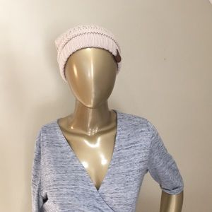 Crocheted C.C. Cream Hat with ponytail option